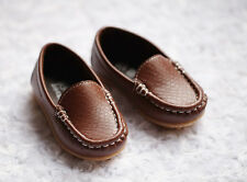NEW Boys Formal Soft Rubber Sole Loafer Shoes, Brown, size 8.5/9/10/11/12