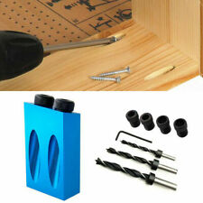 14pcs/set 6/8/10mm Oblique Hole Locator Drilling Bits Jig Clamp Woodworking Kit