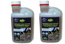 lot 2 X GLYPHOSATE 450 G/L DESHERBANT ULTRA CONCENTRE PUISSANT 10000 M² herbe