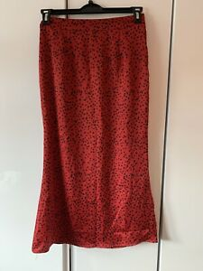 Missguided maxi red polka dot skirt - UK size 10