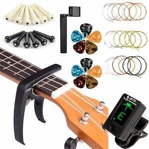 Guitar Strings Tuner Picks Capo Pins String Winder Pins Remover Set Tool Kit