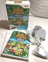 Animal Crossing City Folk (Nintendo Wii) CIB w/ Wii Speak Mic - Tested & Works