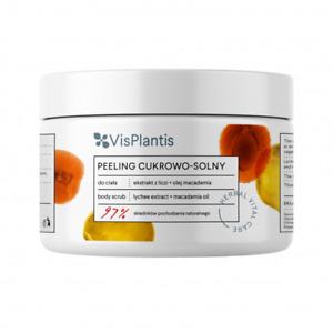 Vis Plantis Sugar and Salt Nourishing Body Scrub Lychee & Macadamia Oil 200ml