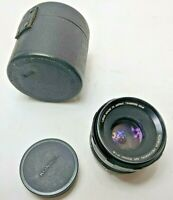 Konica Hexanon 52mm F1.8 AR Mount Lens with one lens cover and leather case