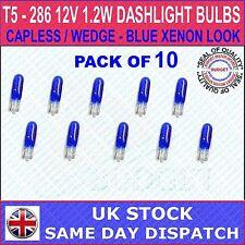 286 T5 INDICATOR DASH CAR AUTO BULBS BLUE XENON LOOK 12V 1.2W x 10