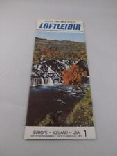 ICELANDIC AIRLINE TIMETABLE 1972 73 SCHEDULE EUROPE ICELAND TRAVEL ADVERTISING