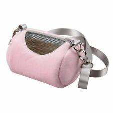 Travel Bag For Small Animal Breathable Hamster Carrier Strap Zippered Cage Crate