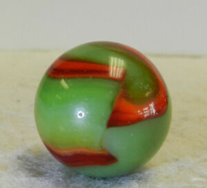 #13253m Large .82 Inches Vintage Peltier NLR Flaming Dragon Shooter Marble