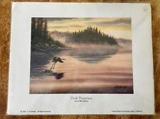 """K.D. Kotulak  Signed/Numbered """"Dusk Departure Great Blue Heron""""  11""""x 14"""""""