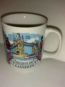 Sights of London Collectible Travel Souvenir Coffee Mug Bridge Tower Big Ben 8oz