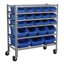 Sealey Mobile Garage / Workshop Bin Storage/Storing System - 22 Bins - TPS22