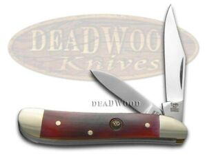 Hen & Rooster Peanut Knife Smooth Brown Bone Stainless Pocket Knives 402-BRB