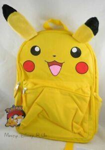 New Nintendo Pokemon Pikachu Backpack Go To School Book Bag