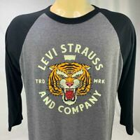 NWT Levi's Men's Large Long Sleeve Tee Tiger Trd Mark Jersey Vintage Style- L