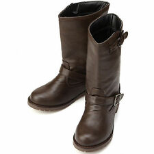 Women's Synthetic Buckle Mid-Calf Boots