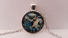 Fashion Fine Jewellery Women's Cute Unicorn Fairy Cabochon Silver Necklace