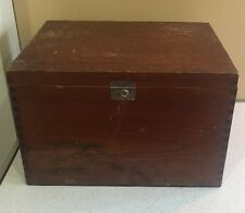 A1 Rare Antique Tin Lined Insulated Wood Cigar Humidor Food Cooler Box