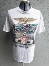 Vtg 1992 Indianapolis Indy 500 76th Running Rick Mears Racing T-Shirt White Med
