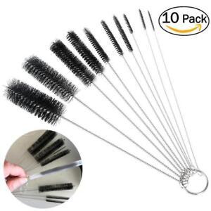 10pcs /5 Set Teapot Nozzle Tube Nylon Baby Milk Bottle Cleaning Brush Reusable
