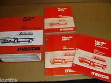 1989 Mazda Mpv van wiring service shop dealer repair Factory Binder manual