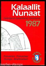 GREENLAND 1987 YEAR BOOK COMPLETE MINT NH FACE VALUE OF THE STAMPS IS  49 KR