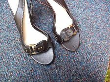 WORN ONCE/BARRATTS/BLACK/BUCKLE TRIM/SLINGBACK/HEELS/SIZE 6