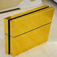 Stylish Gold Glossy PS4 Decal Skin Sticker for PS4 Console + Controllers Skin WT