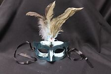 Lot of 12 Turquoise Blue Mardi Gras Masquerade Costume Masks