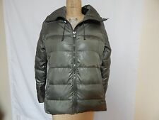 Ralph Lauren Funnel Neck Down Puffer Jacket L Loden Green  New With Defects