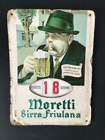 CALENDARIO PERPETUO MORETTI BIRRA FRIULANA 1966 VINTAGE CALENDAR ITALIAN BEER