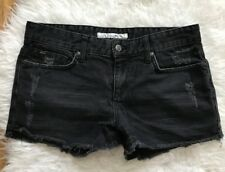 $138 JOE'S JEANS ROLLED EX LOVER DISTRESSED CUT OFF DENIM SHORTS~CONNOR BLACK~26