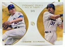Tom Seaver / Mike Piazza 2018 Topps On Demand Dynamic Duals GOLD Parallel #d 1/1