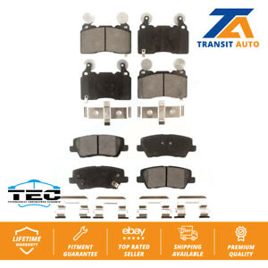 Front Rear Ceramic Pads Pair Cadillac CTS