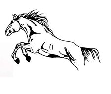 Horse Jumping Vinyl Decal