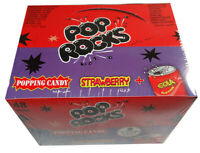RETRO POP ROCKS Strawberry/ Cola Flavour Popping Candy TWIN PACKS x 2 Packs
