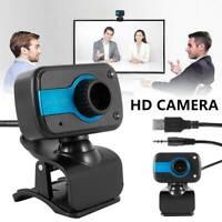 Webcam HD avec microphone Caméra Web Cam USB 2.0 pr ordinateur bureau PC port DE