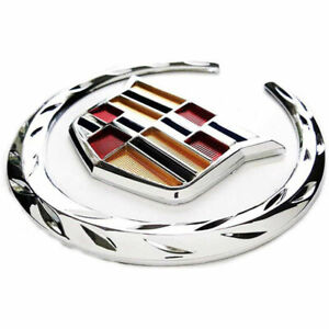 "For Cadillac Symbol Ornament 6"" inch Front Grille Chrome Emblem Hood Badge"