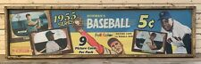 AWESOME Vintage Style 1955 Bowman Baseball Card Wooden Sign Mantle Mays
