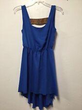 Womens Dress Size 6 Blue Wide Strap Back Empire Waist Party Trixxi 78