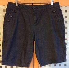"NEW - KALIKO Dark Blue Bermuda Shorts - Size 16 - Waist 36"" - Inside Leg 12"""