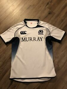 MEN'S CANTERBURY RUGBY UNION SCOTLAND 2010/2011 AWAY SHIRT JERSEY MAILLOT SIZE L