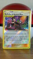 Bellelba & Brycen-Man  186/236 S&M: Cosmic Eclipse Reverse Holo Mint/NM Pokemon