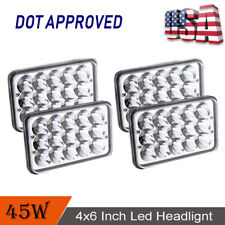 "DOT 4PCS 4""X6"" Square LED DRL Headlight High/Low Beam for Ford Truck Offroad"