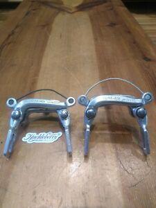 Dura Ace Brake Caliper Set Center Pull Early Vintage Bike Shimano  NOS