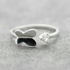 Womens Adjustable Rings 925 Sterling Silver Plated Wedding Engagement Thumb #13