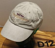 """TASTE OF HOME ENTERTAINING"" HAT BEIGE EMBROIDERED ADJUSTABLE VERY GOOD COND D12"