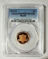 2011 S Proof Lincoln Shield Cent PCGS PR 69 RD DCAM Superb Gem Proof
