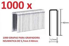 1000 GRAPAS DE 5,7mm X 40mm PARA GRAPADORA NEUMATICA PARKSIDE PDT40D3 ENVIO GRA