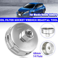 Oil Filter Socket Wrench Removal Tool 68mm 14 Flute For Subaru Mazda Honda Kia