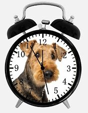 """Airedale Terrier Alarm Desk Clock 3.75"""" Home or Office Decor E289 Nice For Gift"""